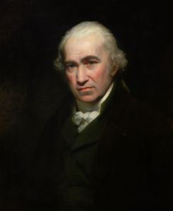 Portrait of James Watt by Beechley - courtesy of Heriot-Watt University.
