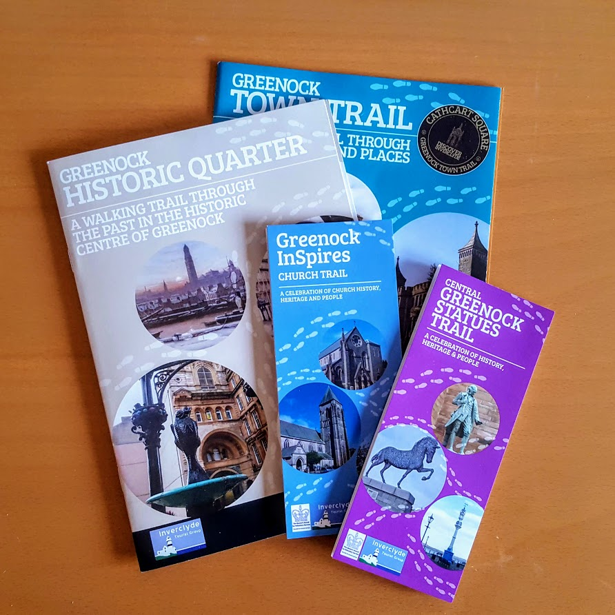 The new walk booklet, and other publications available in Greenock.