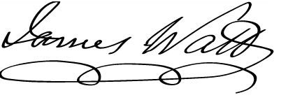 James Watt's signature