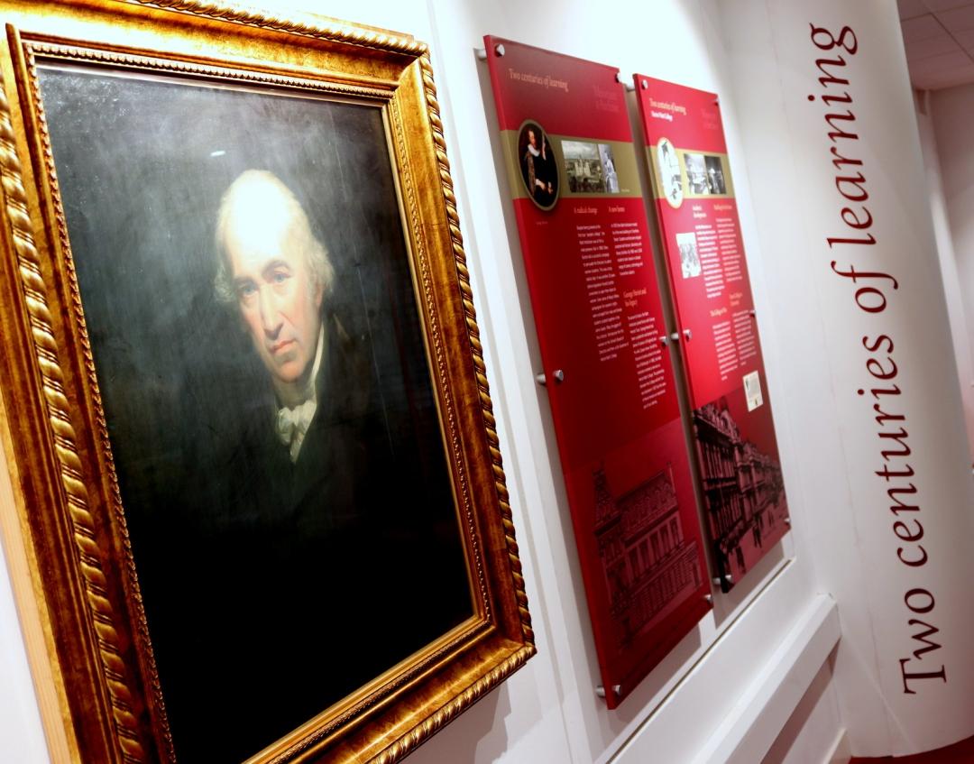Watt's favourite painting in the museum at Heriot Watt University in Edinburgh.