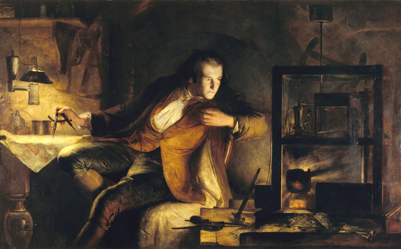 Painting: James Watt and the Steam Engine: the Dawn of the Nineteenth Century, by James Eckford Lauder.