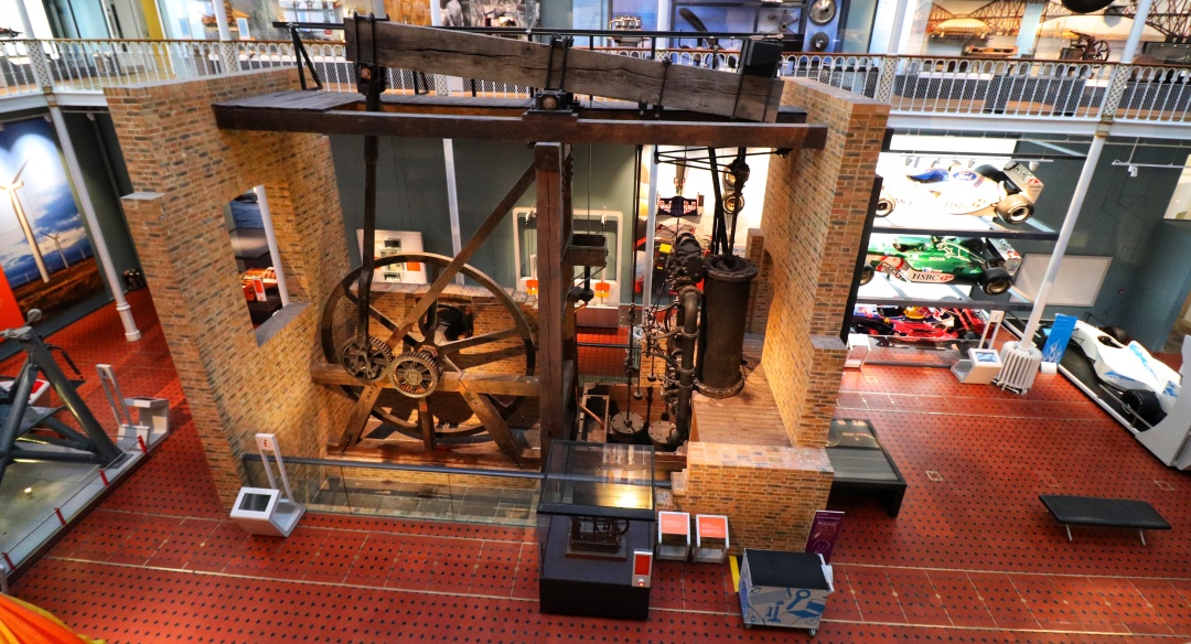 The Boulton and Watt engine at the National Museum of Scotland in Edinburgh.