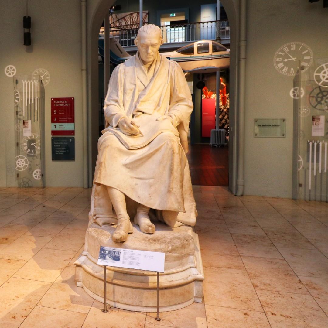 Watt Statue at the National Museum of Scotland in Chambers Street, Edinburgh.