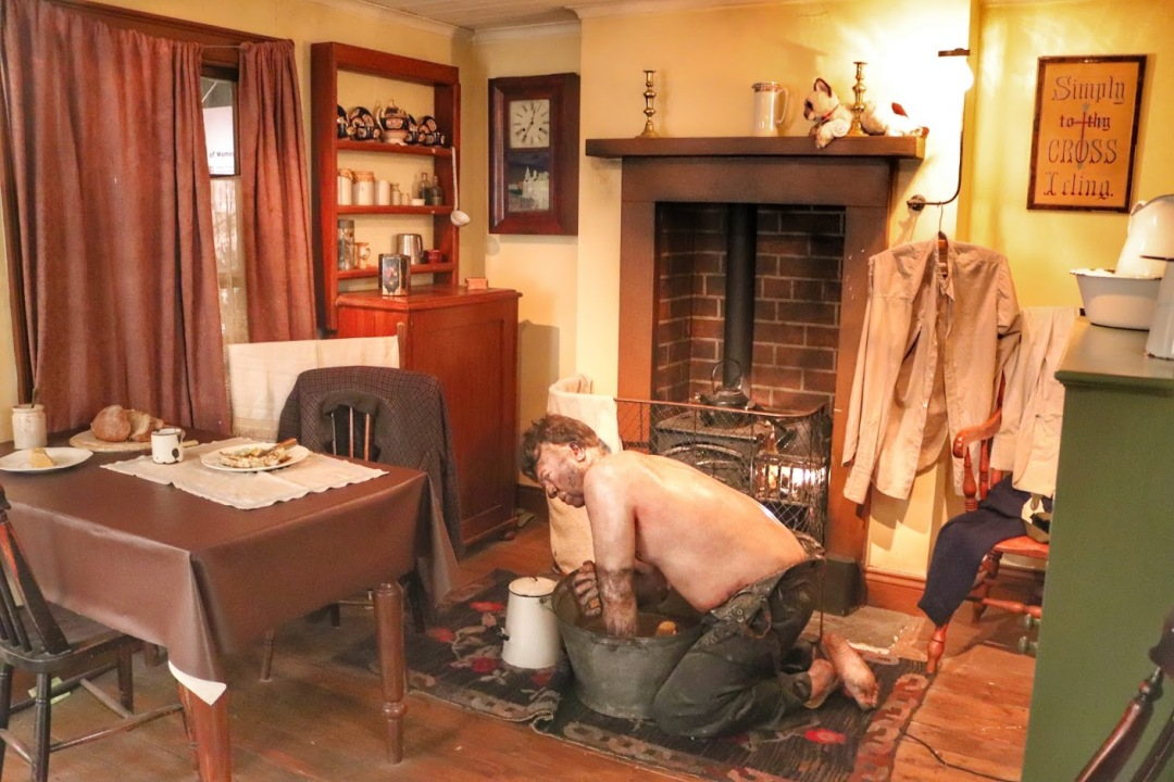 The museum recreates a typical miner's cottage.