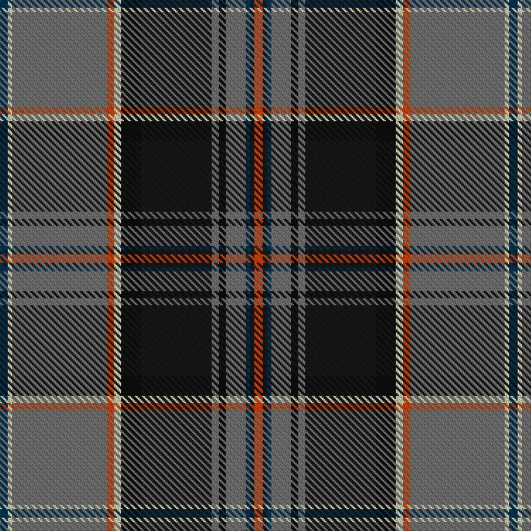 The James Watt Commemorative Tartan, registered by Inverclyde Council. Picture from the Scottish Register of Tartan. Crown Copyright.