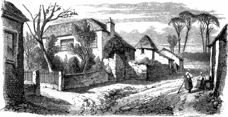 "The entrance to Cusgarne House from the ""Lives of Boulton and Watt"", published in 1865."