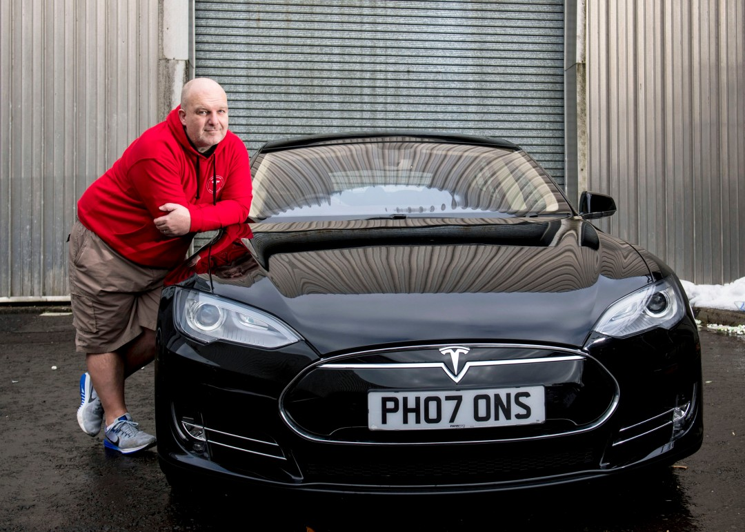 Chris Clarkson donates his Tesla Model S P85+, 2018 (Image copyright CSG CIC Glasgow Museums)
