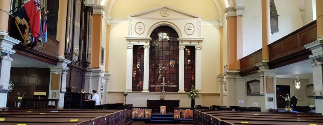 Inside St Paul's Church in Birmingham