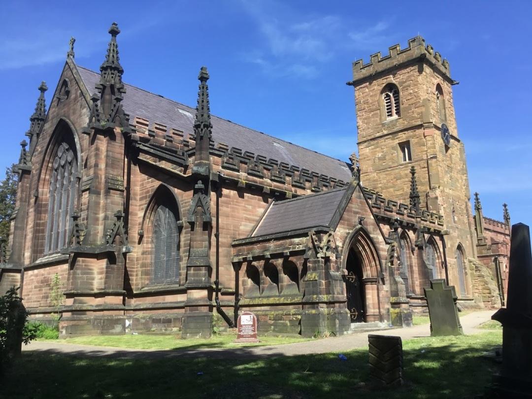 St Mary's Church in Handsworth, Birmingham - where James Watt is buried.