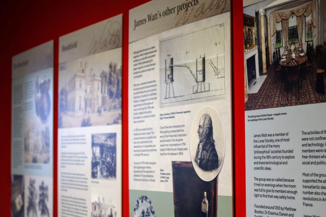 The James Watt exhibition at Bo'ness Library.