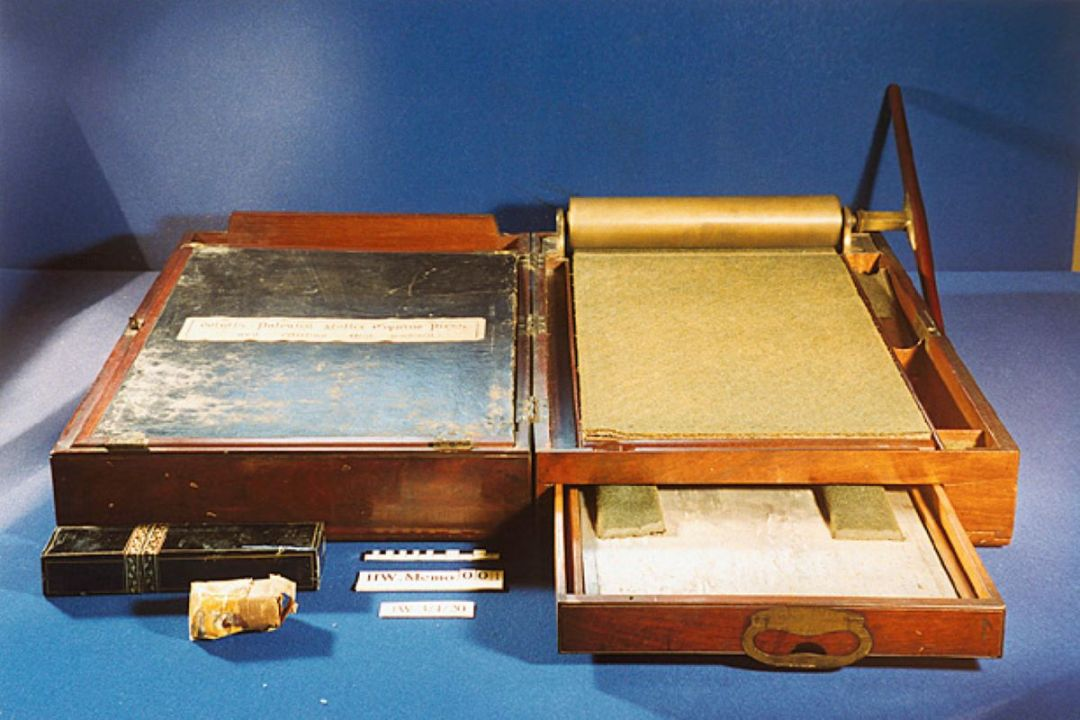 Watt's letter copier - picture courtesy of Heriot-Watt University, Edinburgh.